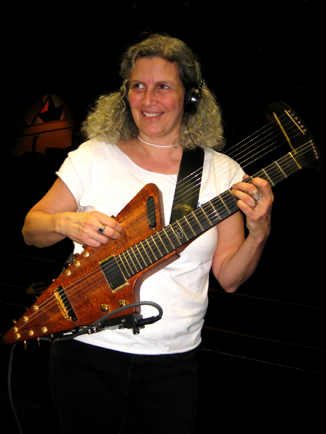 NANCY with harp guitar